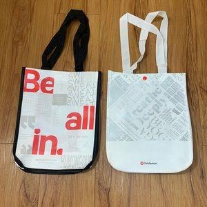 Lululemon X 2 Snap Button Closure Reusable Bags